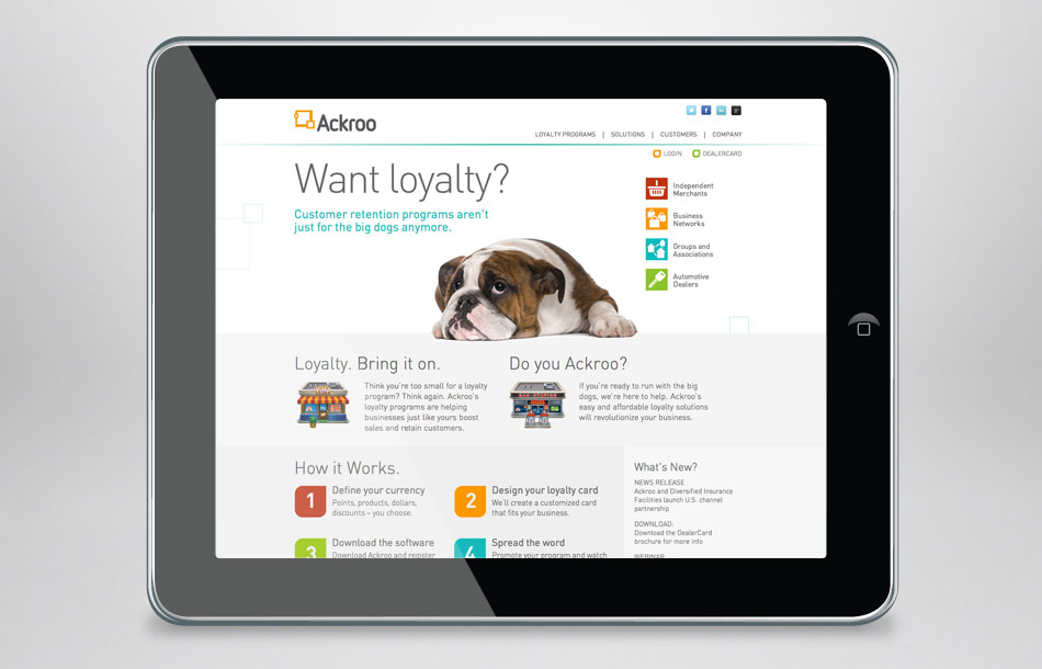 Ackroo Home Page