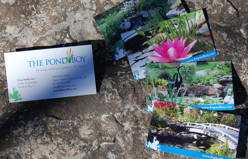 The Pond Boy business cards