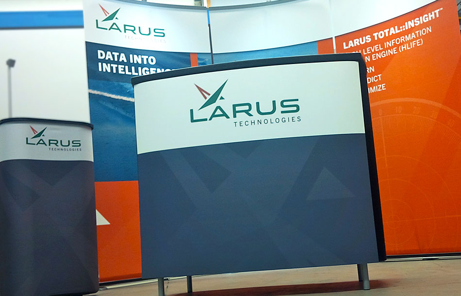 Larus Technologies trade show booth