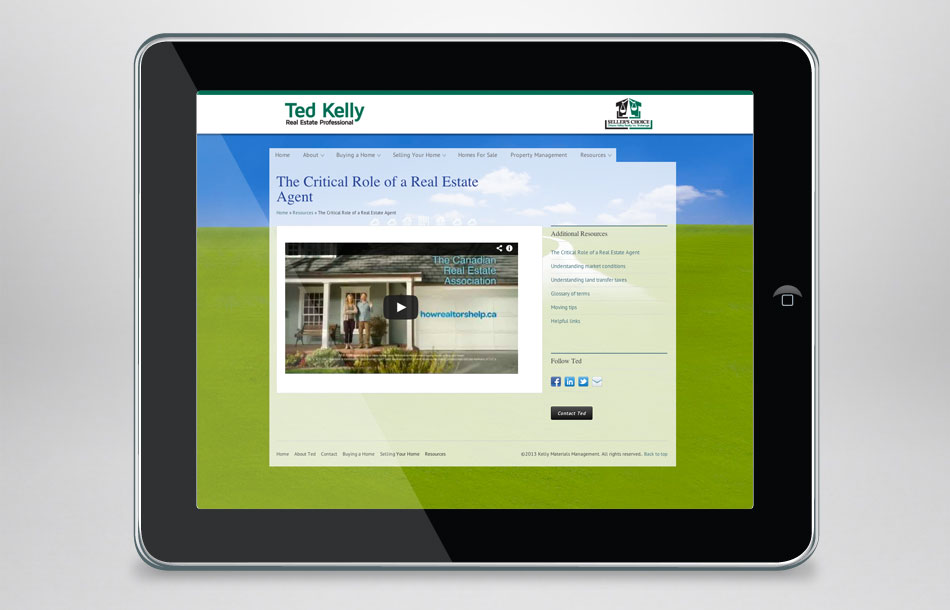 Ted Kelly Seller's Choice Real Estate video page